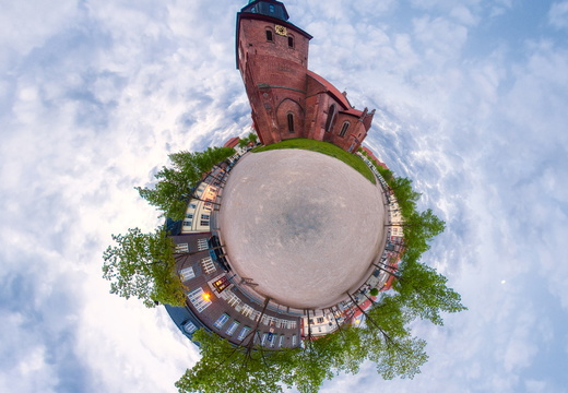 Little Planet Panorama Kirche 2